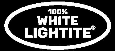 100 white lightite logo white