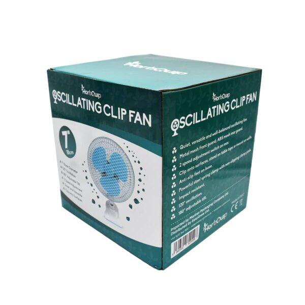 HortiQuip Oscillating Clip Fan