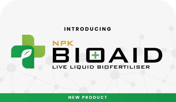Introducing NPK BioAid, a live liquid fertiliser!