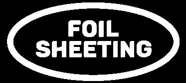 foil sheeting logo White